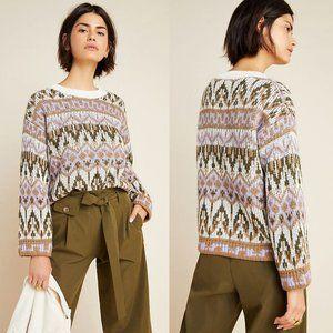 NWT Anthropologie Fabiana Fair Isle Knit Sweater